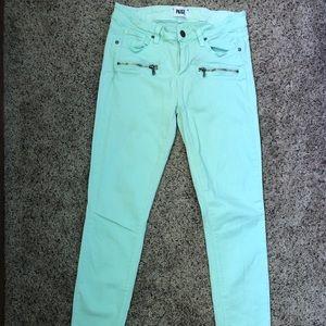 Mint PAIGE Skinny Jeans Size 29